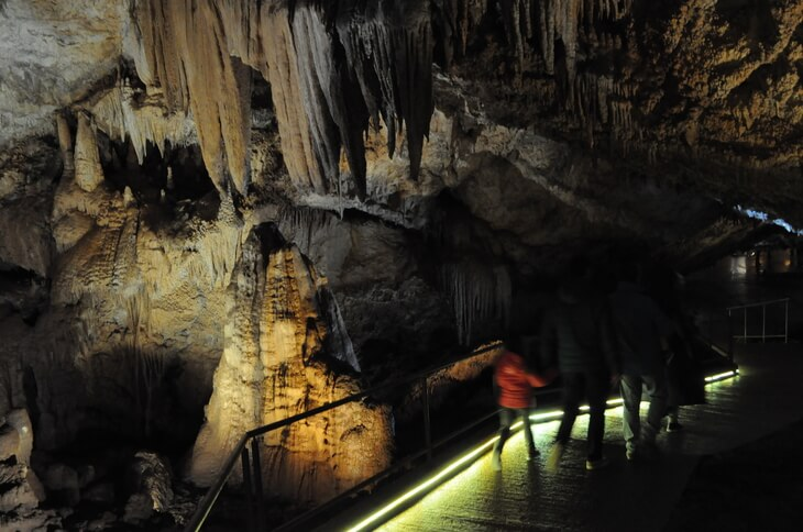 Lipa Cave is just outside of Cetinje, Montenegro and makes a great family-friendly attraction for all ages. Ride the train down to the entrance then explore the ancient cave system on a guided tour.