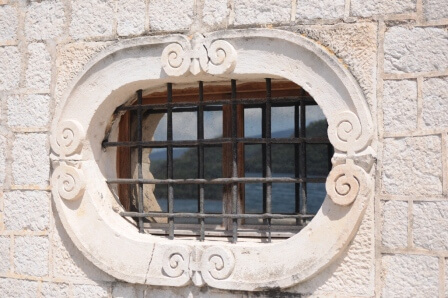 Perast palace window