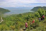 Group walking by Skadar Lake